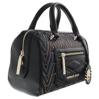 Versace EE1VRBBY6 Black/Multicolor Shoulder Bag - 10-6-6