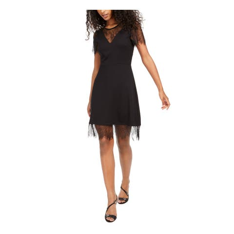 FRENCH CONNECTION Black Short Sleeve Above The Knee Dress 2