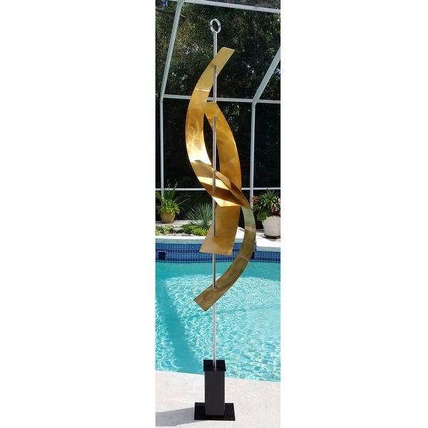 "Statements2000 Large Metal Sculpture Modern Indoor Outdoor Garden Art Decor by Jon Allen - Maritime Massive - 94"" x 20"" x 20"""