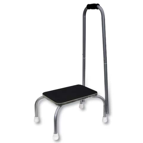 One Step Stepstool With Non-Slip Rubber Platform & Feet and Padded Handle - 9 in.