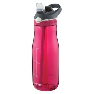 Contigo 72900 Ashland Water Bottle, Plastic, Sangria, 32 Oz