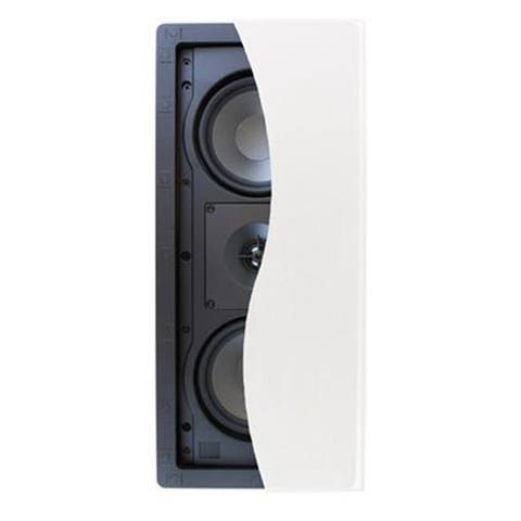 Klipsch R-2502-W II In-Wall Speaker, 60W RMS Power, Single, White