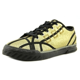 Clone Glitter Women Round Toe Synthetic Gold Sneakers