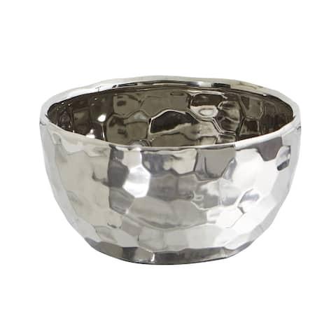 """8.75"""" Designer Silver Bowl"""