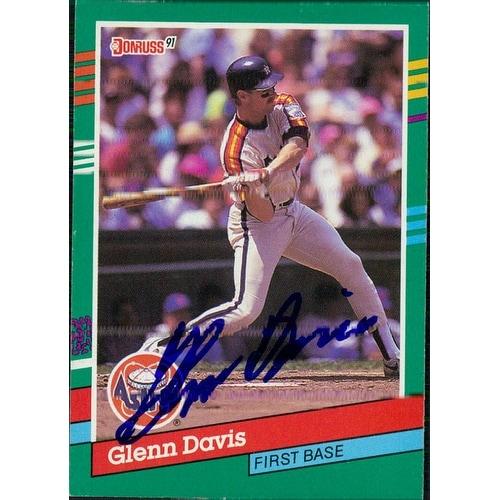 Signed Davis Glenn Houston Astros 1991 Donruss Baseball Card Autographed