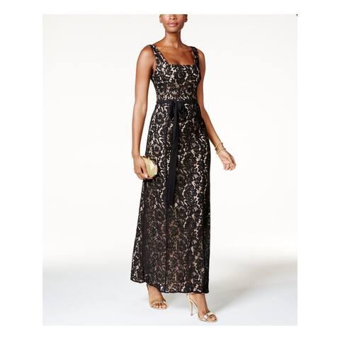 FAME AND PARTNERS Black Sleeveless Maxi Sheath Dress Size 2