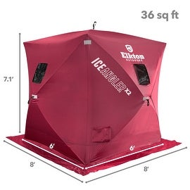 Elkton Portable Pop-up 3 Person Ice Shelter Fishing Tent
