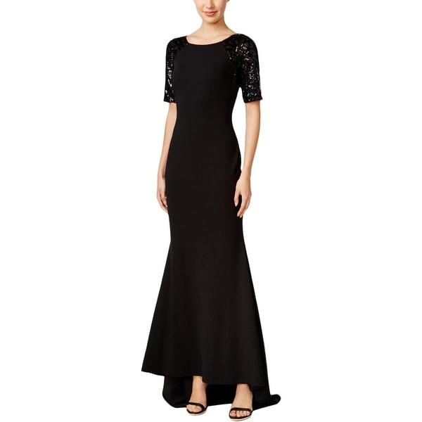 01b09e3bb5c9f Calvin Klein Womens Formal Dress Sequined Short Sleeves - 2