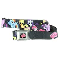 My Little Pony 6 Ponies Group Seatbelt Belt - Hold Pants Up