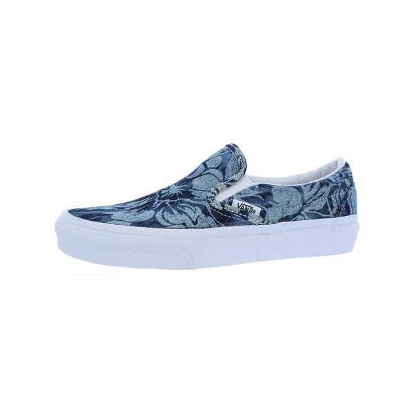 fb63180de364 Shop Vans Womens Classic Slip-On Skateboarding Shoes Floral Indigo Tropical  - Free Shipping On Orders Over  45 - Overstock - 22670900