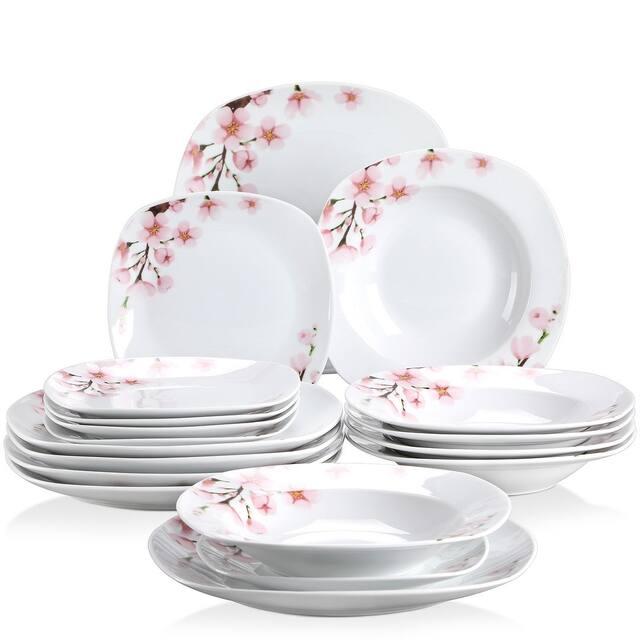 VEWEET 'Annie' Floral Dinnerware Set (Service for 6) - 18 Piece