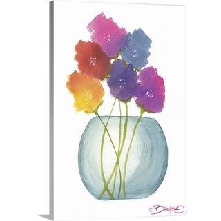 """""""Flowers in a Jar VIII"""" Canvas Wall Art"""