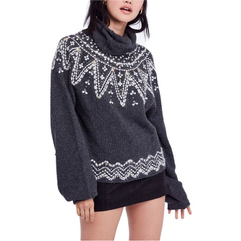 Free People Womens Treasure Pullover Sweater, Grey, X-Small