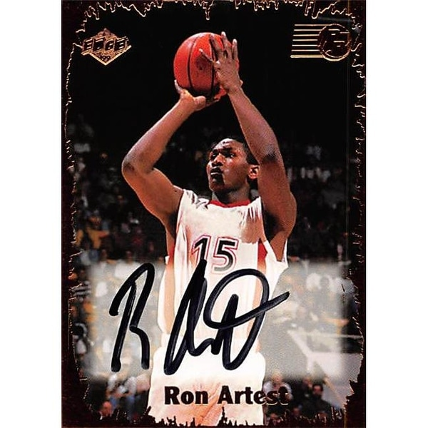Shop Ron Artest Autographed Basketball Card - St. Johns a7e31b792