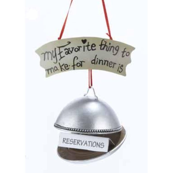 "3.25"" My Favorite Thing To Make For Dinner Is Reservations Christmas Ornament"