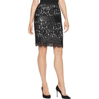 Elie Tahari Womens Pencil Skirt Sequined Lined