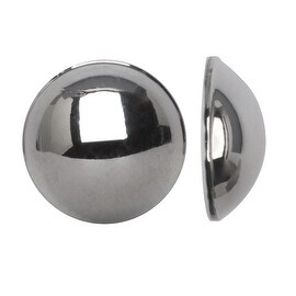 Swarovski Crystal, 2080 Flatback Hotfix Cabochon Faux Pearls ss16, 50 Pieces, Light Chrome HF