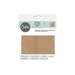 Sizzix KlLzardi Paper Envelopes Kraft