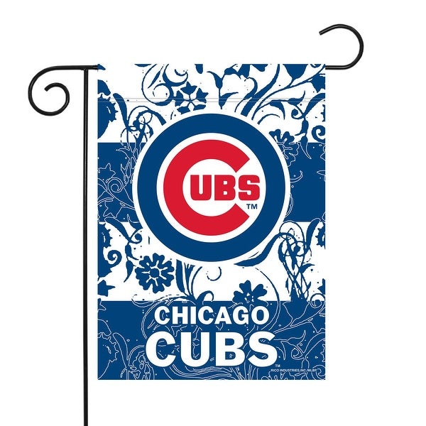 """18"""" x 13"""" Blue and Red MLB Chicago Cubs Outdoor Garden Flag - N/A"""