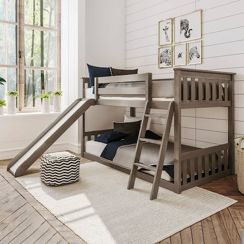 Max & Lily Twin-Size Low Bunk with Slide