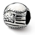 Sterling Silver Reflections USA Flag Baseball Bead (4mm Diameter Hole) - Thumbnail 0