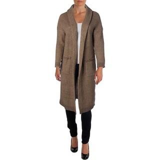 Lauren Ralph Lauren Womens Plus Open Front Long Cardigan Sweater - 1X