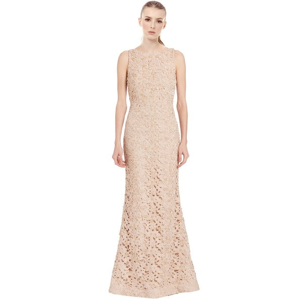 3d858dcc19 Shop Alice   Olivia Kacie Embroidered Beaded Lace Evening Gown Dress ...