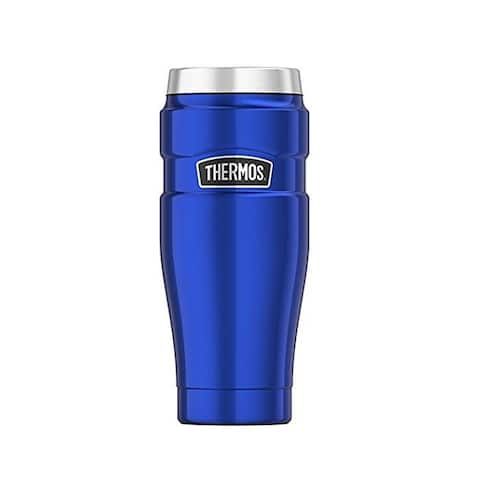 Thermos Stainless King Vacuum Insulated Travel Tumbler (16oz/ Royal Blue)