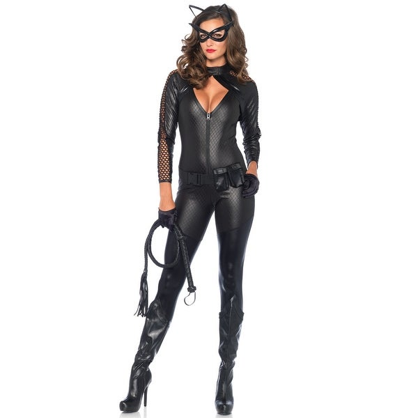 816c489668ef4 Shop Leg Avenue Wicked Kitty Adult Costume - Black - Free Shipping Today -  Overstock - 16951980