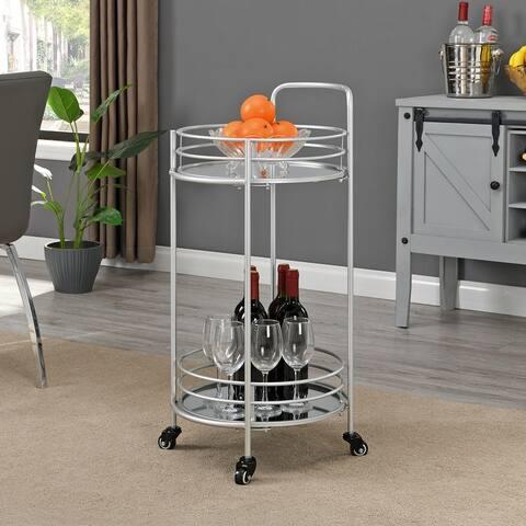FirsTime & Co.® Joliet Round Metal Bar Cart