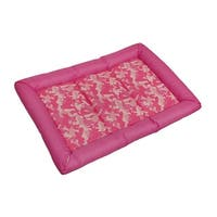 Snoozzy Durable Pink Canine Camouflage Dog Crate Mat 30x21 in.