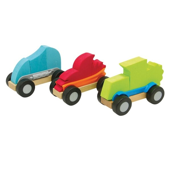 Fat Brain Toys Modmobiles Car Toys Mix & Match Set - multi