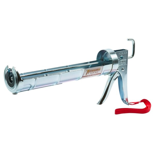 Newborn 315 Super Ratchet Rod Cradle Caulk Gun, 1/4 Gallon, 6:1 Thrust Ratio