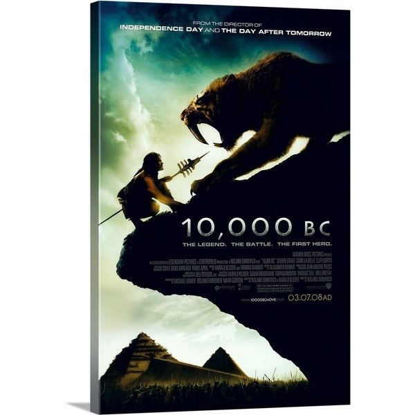 Solid-Faced Canvas Print entitled 10,000 B.C. - Movie Poster