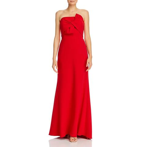 Aqua Womens Formal Dress Strapless Bow - Red