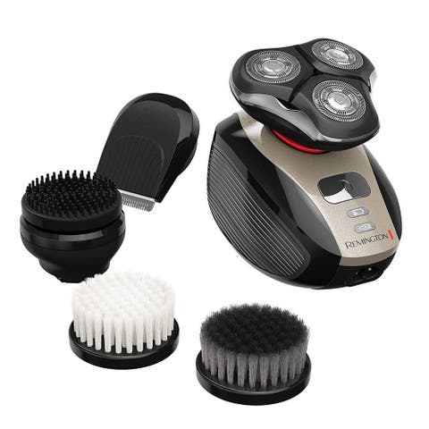 Remington XR1410 Verso Wet & Dry Mens Shaver & Trimmer Grooming Kit with Shaver-Aid Cleaning Brush - Black