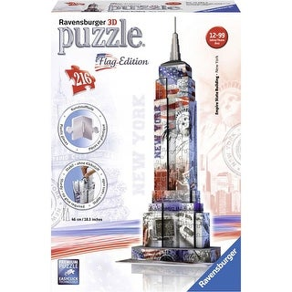 Empire State Building Flag Edition 216 Piece 3D Puzzle