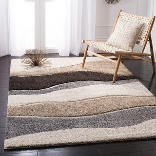 Link to Safavieh Florida Shag Cirilla Abstract Wave Rug Similar Items in Shag Rugs