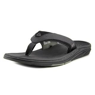Reef Modern Men  Open Toe Synthetic Black Flip Flop Sandal