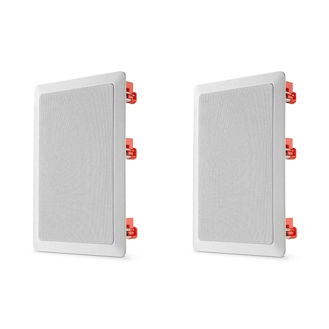 """JBL C-81IW 8"""" In-Wall Speakers - Pair - White"""