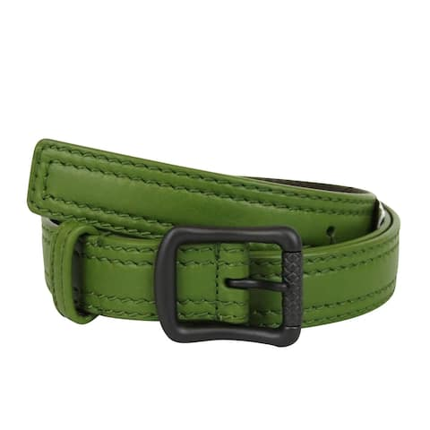 Bottega Veneta Unisex Green Leather Belt 284083 3822 (95 / 38)