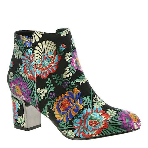 J.Renee Womens Tunatti Fabric Pointed Toe Ankle Fashion Boots