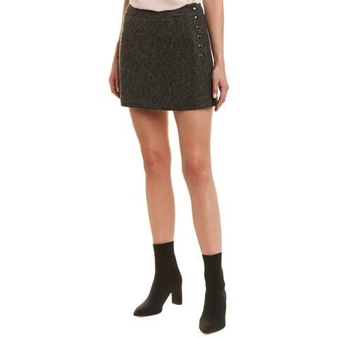 Ramy Brook Noah Wool & Mohair-Blend Mini Skirt - SOLGR