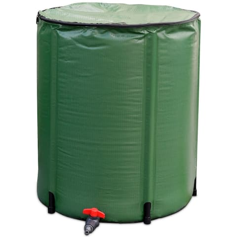 "60 Gallon Portable Collapsible Rain Barrel Water Collector - 24"" x 32.5"""