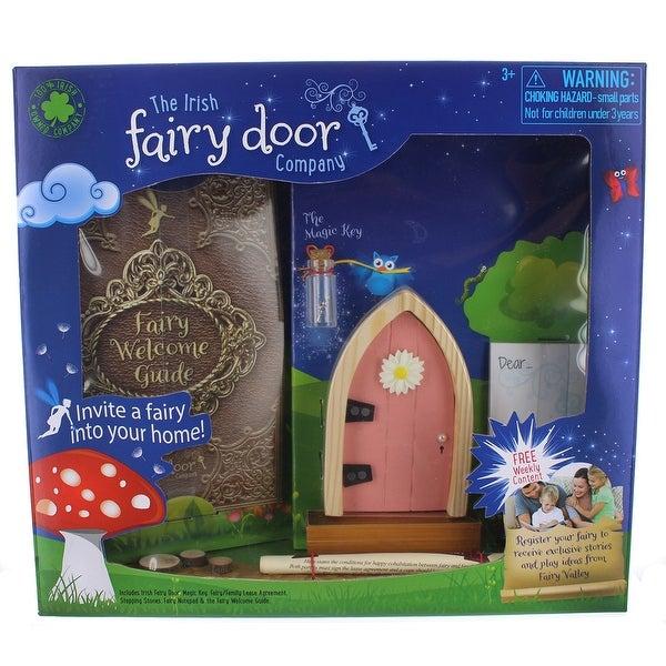 Irish Fairy Door Playset: Pink Door - multi
