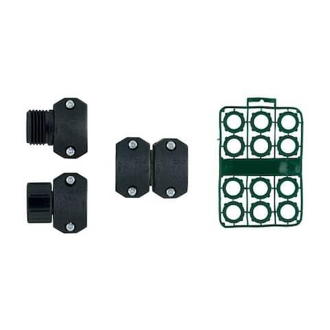 Orbit 58097N Garden Hose Mender Kit, Plastic, Black