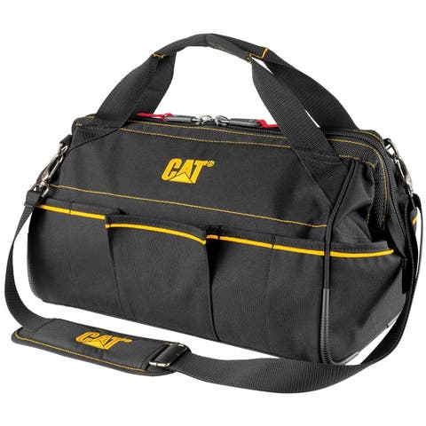 Cat 16 in. Tech Widemouth Tool Bag 14 Pocket Heavy Duty 1680D Polyester - 240043