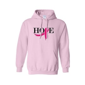 "Unisex Pullover Hoodie ""Pink Ribbon HOPE"" Breast Cancer Awareness"
