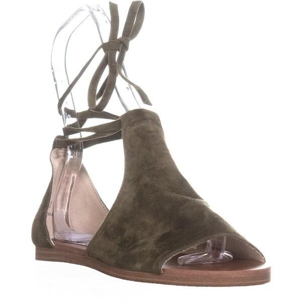 fea14e79a1df0 Shop Steve Madden Elaina Peep Toe Lace Up Sandals, Olive - 7.5 us ...