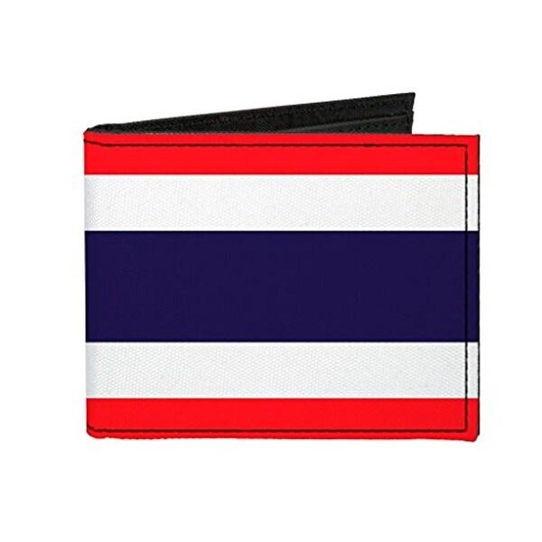 Buckle-Down Canvas Bi-fold Wallet - Thailand Flag Accessory